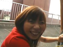 Misa Kurita Hot Asian babe has public sex tube porn video
