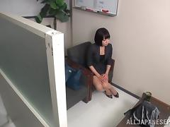 Petite Japanese office girl shows her perfect banging skills tube porn video