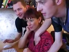 RussiAn Milf Gets Boned And Sprayed By Three Young Cocks ! tube porn video