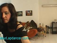 Busty czech chick does hot lapdance tube porn video
