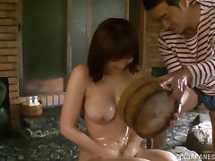 Sex in the hot tub with a smoking hot Japanese bitch tube porn video
