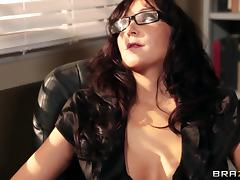 Busty brunette teacher Diana Prince gets fucked in all poses at work tube porn video