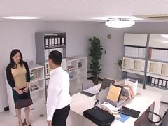 Michiru Sakura Asian chick has hot office sex tube porn video