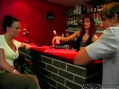 Guy Fucks a Drunk Chick Doggystyle at a Bar tube porn video