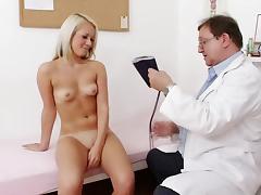 Blonde Venus Devil and her hardcore doctor tube porn video