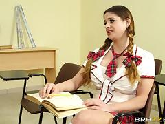 Horny College Babe Gets A Big Nasty Facial From Her Teacher tube porn video