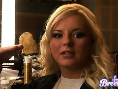 Two divine girls Isis Taylor and Bree Olson in a backstage scene tube porn video