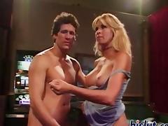 Busty blonde milf shares her husband tube porn video