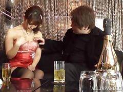 Japanese AV Model horny milf in stockings gets dick ride tube porn video