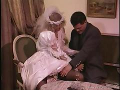 Blonde birde is fucked silly by wearing her wedding dress tube porn video