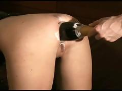 champagne bottle in beauty ass tube porn video