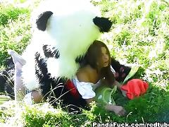 Little red riding hood fucking Panda tube porn video