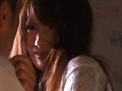Amazing Asian mature Saki Kouzai banged hard at work tube porn video