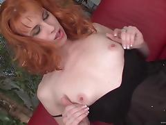 Fishnet Wearing Redhead Milf Gives Headjob And Takes Cock In Cunt tube porn video