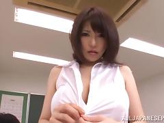 Busty teacher Anri Okita gets fucked at school tube porn video