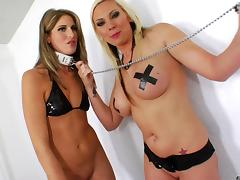 Hot lesbian sex among two sexy blondes tube porn video