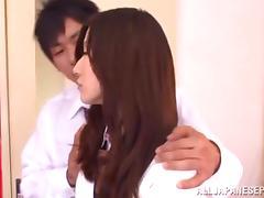 Yuuki Fuwari nasty Asian teen in school uniform gets banged hard tube porn video