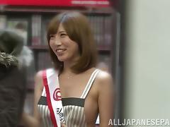 Lusty Japanese milf Julia fucks in a public place tube porn video