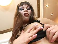 Slut gets fucked in her nylons tube porn video
