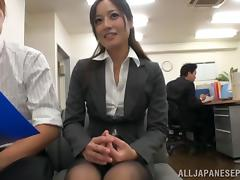 Hot MILF in office suit Minami Asano likes hot sex at work tube porn video