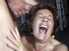 Tall German Mature fucks hard young man tube porn video