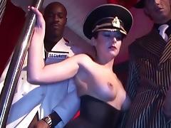 Girls in uniform getting wild on big cocks tube porn video