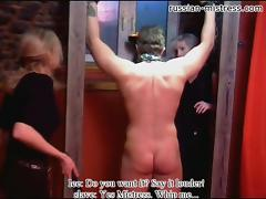 Russian-Mistress Video: Ice tube porn video