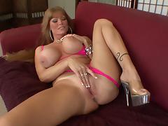 Fair-haired milf Darla Crane seduces and fucks Mark Wood tube porn video