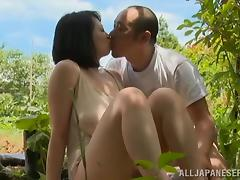 Japanese farmer fucks his wife in the fields in reality clip tube porn video