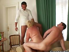 Drunk old bitch is picked up by two dudes tube porn video