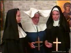 Nasty nun gets her butt spanked in a parody sex video tube porn video