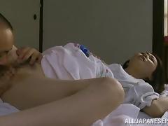 Horny mature Asian model enjoys hardcore fucking tube porn video