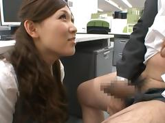 Haruka Sasaki is a sweet asian girl with no limits in the bedroom or office tube porn video