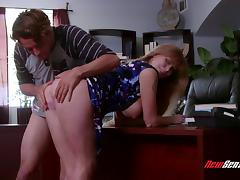 This MILF gets that vintage pussy pounded in an office tube porn video