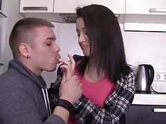Beautiful chick Izi having a first date sex tube porn video