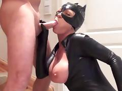 Latex catsuit fuck tube porn video