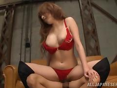 Affectionate Asian cowgirl with long hair getting sensual rim job before being fucked doggystyle tube porn video