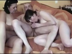 French Couple With A Granny tube porn video